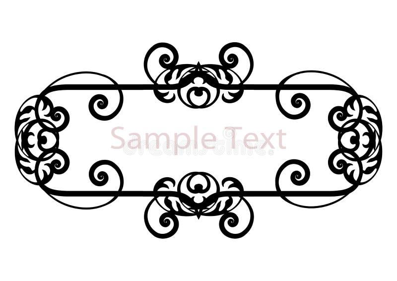 Bandeira preto e branco da silhueta simples ilustração royalty free