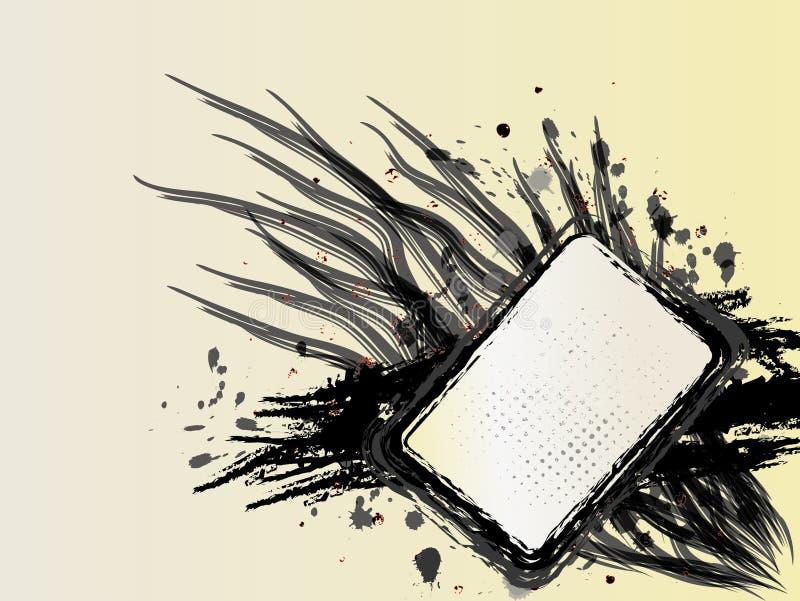 Bandeira preto e branco de Grunge ilustração royalty free