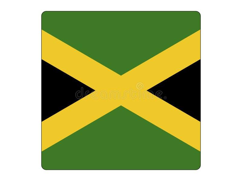 Bandeira quadrada de Jamaica ilustração royalty free