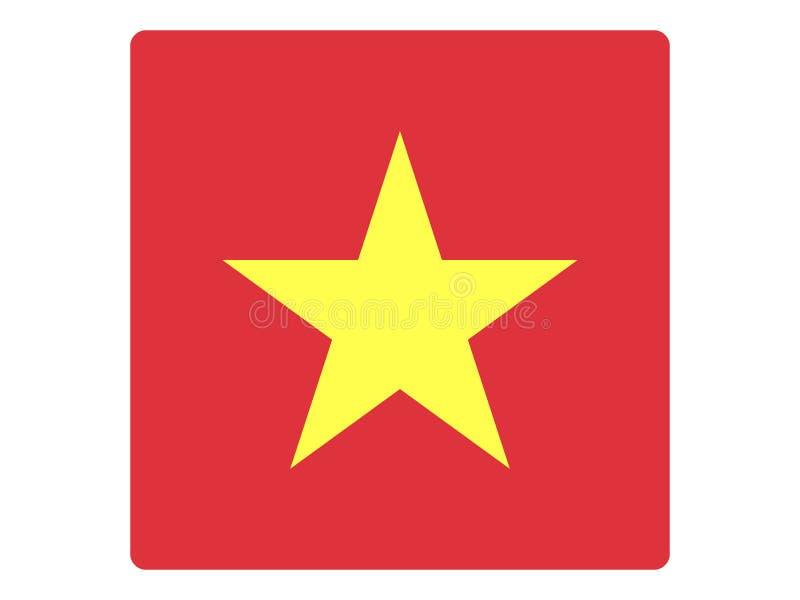 Bandeira quadrada de Vietname ilustração do vetor