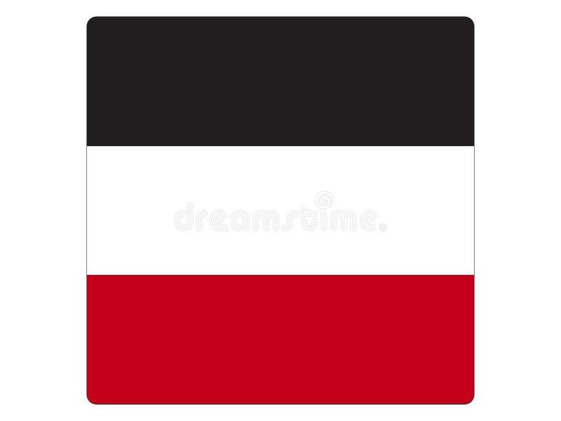 Bandeira quadrada do império alemão ilustração do vetor