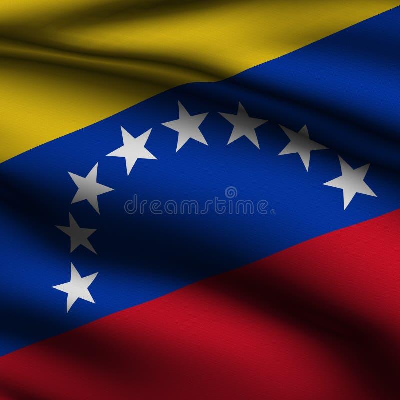 Bandeira quadrada venezuelana rendida ilustração royalty free