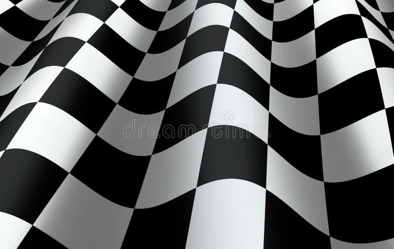 Bandeira quadriculado ilustração royalty free