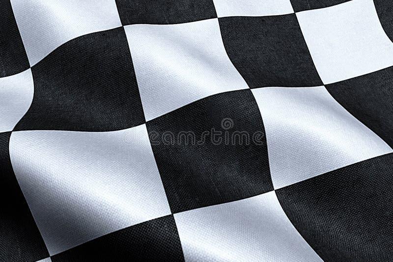 Bandeira quadriculado, fundo da raça da extremidade, Fórmula 1 fotografia de stock royalty free
