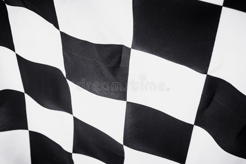 Bandeira quadriculado, fundo da raça da extremidade, competição do Fórmula 1 imagens de stock
