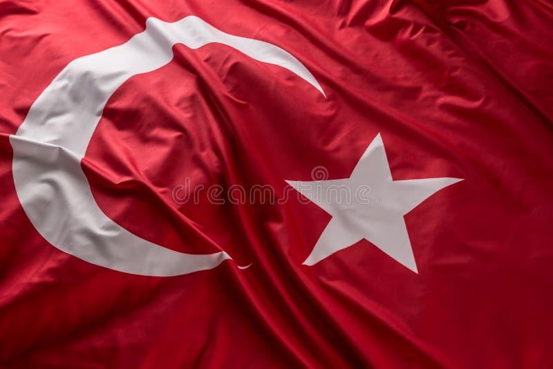 Bandeira que acena no vento - parte superior de Turquia da vista ilustração do vetor