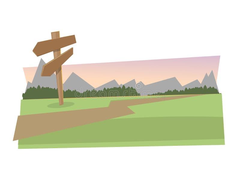 Bandeira que caminha a natureza exterior ilustração stock