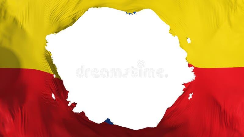 Bandeira quebrada de Bogotá ilustração royalty free