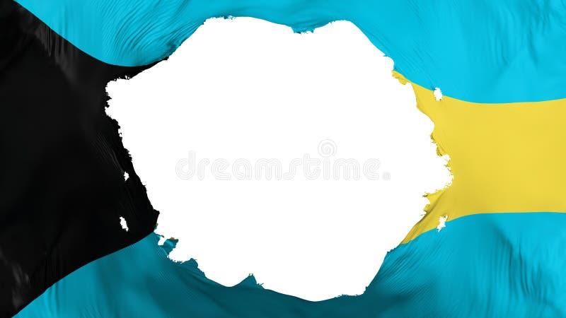 Bandeira quebrada do Bahamas ilustração royalty free