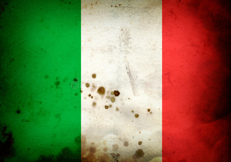 Bandeira queimada de Italy ilustração do vetor