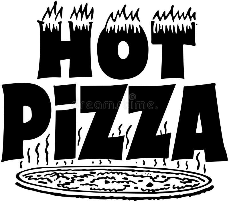 Bandeira quente da pizza ilustração stock