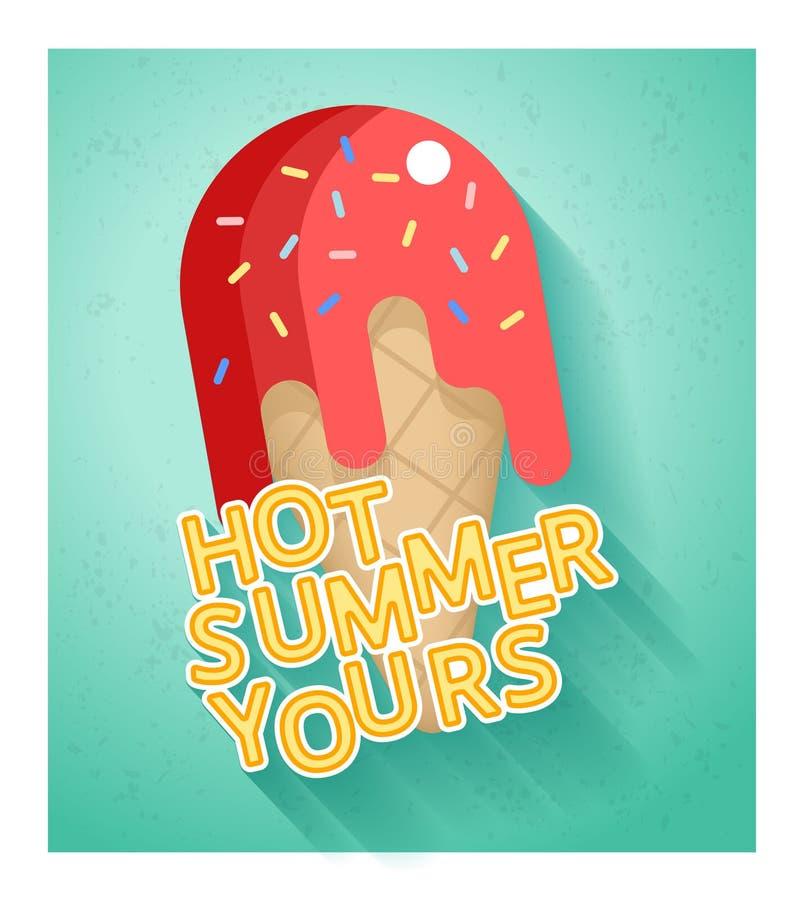 Bandeira quente da venda do verão ilustração stock
