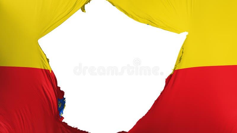 Bandeira rachada de Bogotá ilustração royalty free