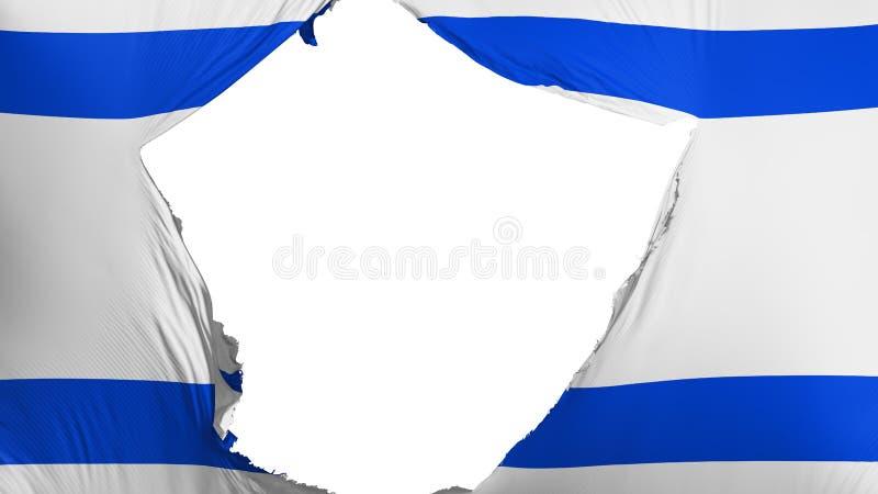 Bandeira rachada de Israel ilustração stock