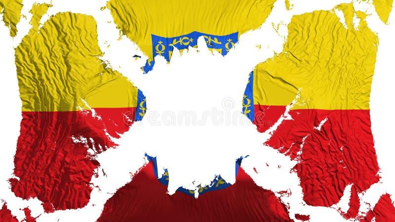 Bandeira rasgada Bogotá que vibra no vento ilustração royalty free