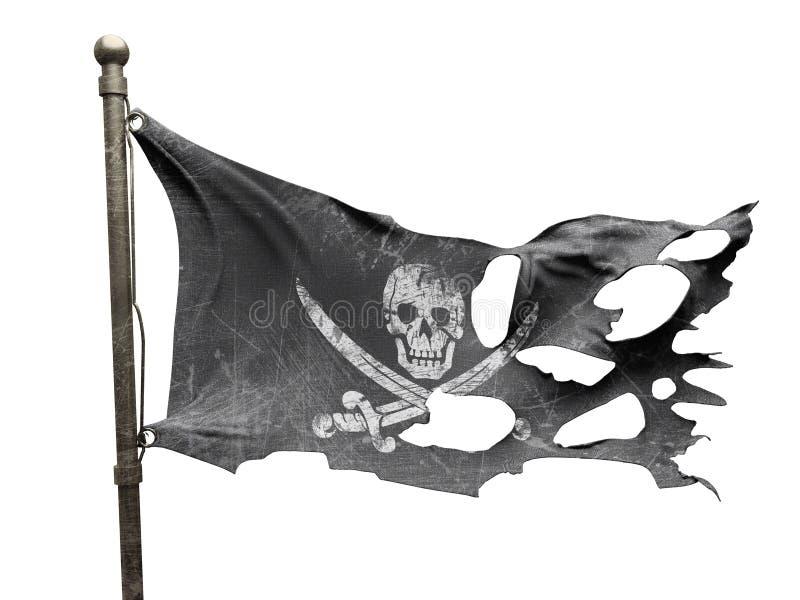 Bandeira rasgada rasgada ilustração do vetor