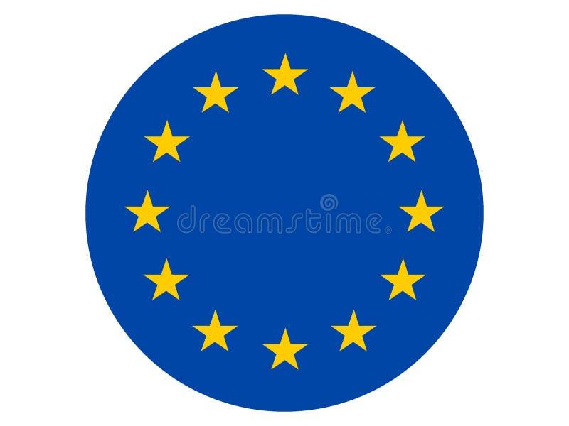 Bandeira redonda da União Europeia ilustração do vetor