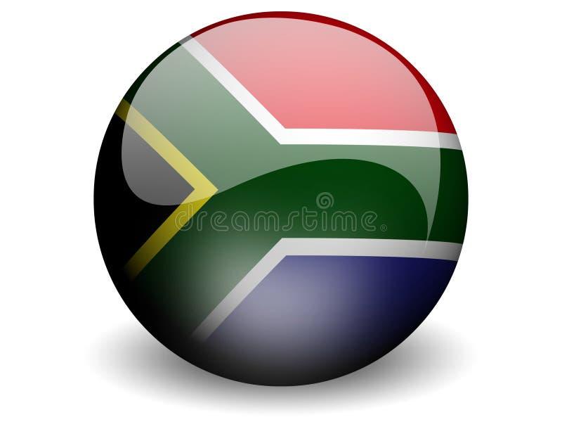 Bandeira redonda de África do Sul ilustração do vetor