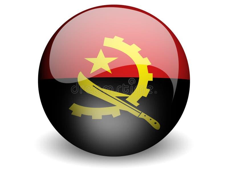 Bandeira redonda de Angola ilustração royalty free