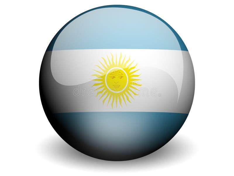 Bandeira redonda de Argentina ilustração do vetor