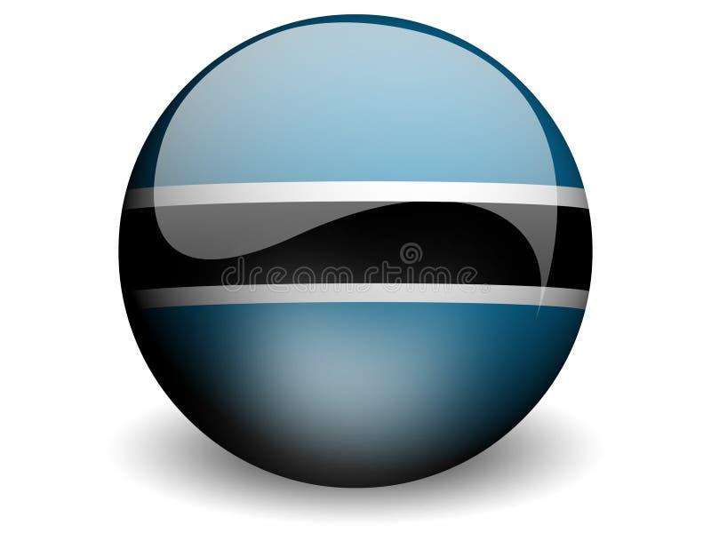 Bandeira redonda de Botswana ilustração stock
