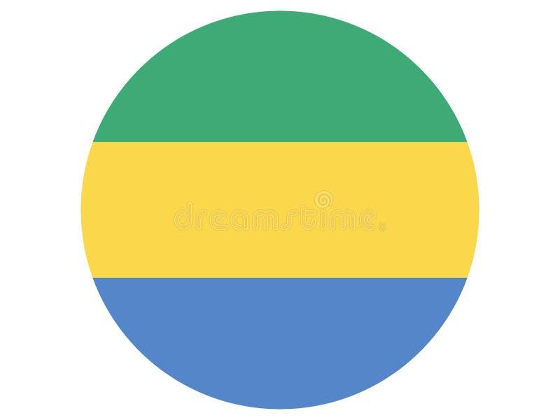 Bandeira redonda de Gabon ilustração stock
