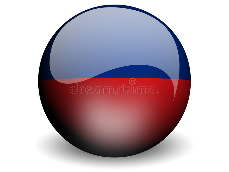 Bandeira redonda de Haiti ilustração do vetor
