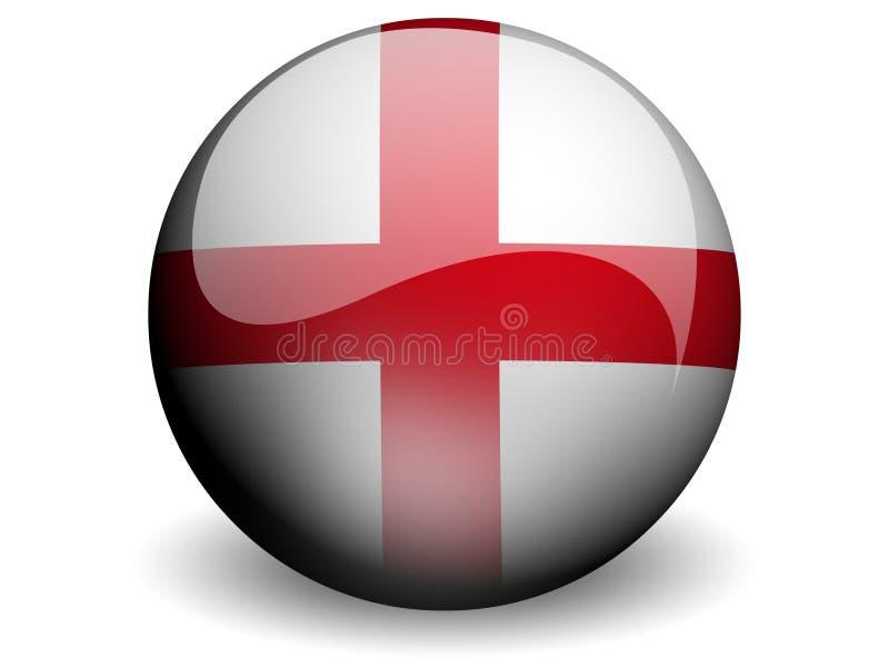 Bandeira redonda de Inglaterra ilustração stock