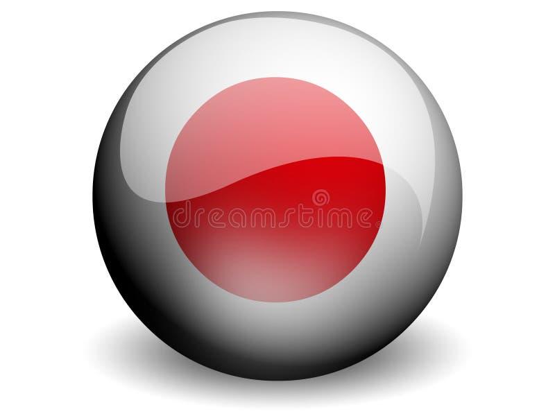 Bandeira redonda de Japão ilustração stock