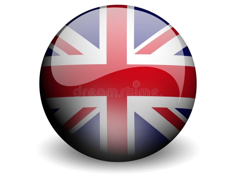 Bandeira redonda de Reino Unido ilustração royalty free