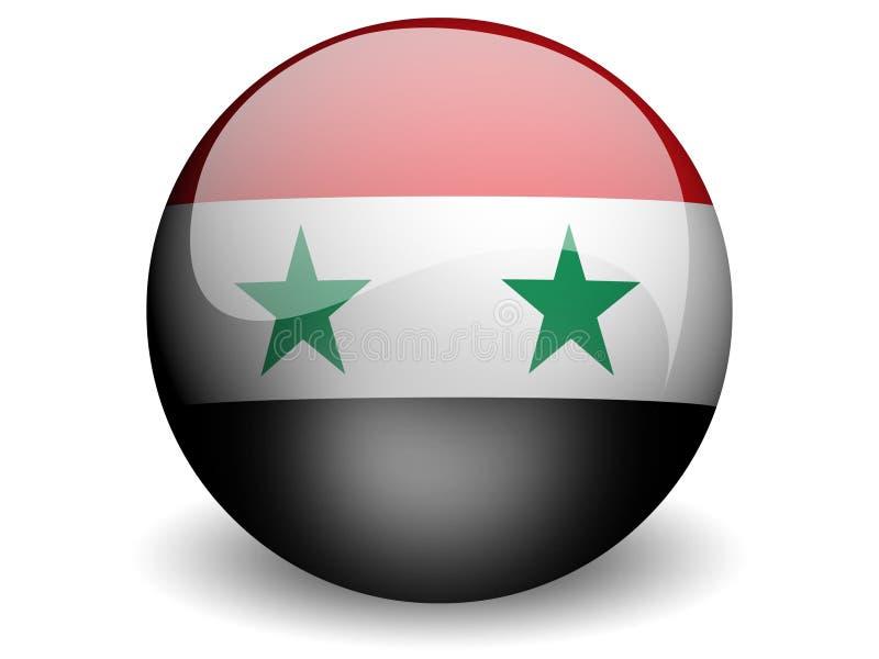 Bandeira redonda de Syria ilustração do vetor