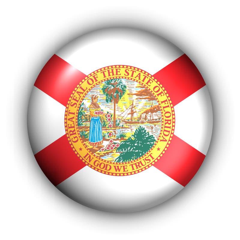 Bandeira redonda do estado dos EUA da tecla de Florida ilustração stock
