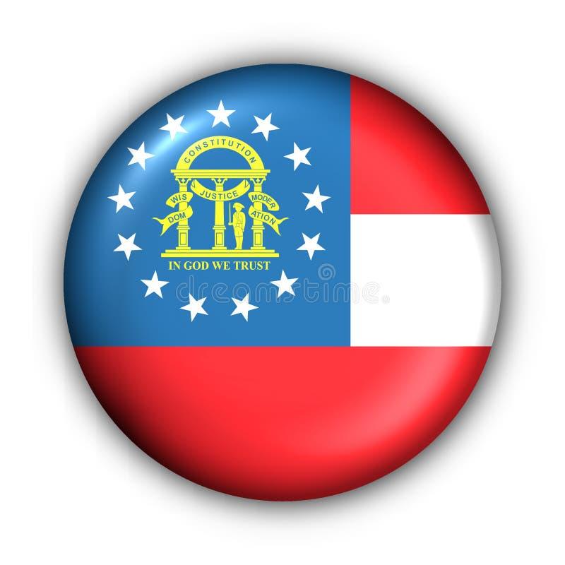 Bandeira redonda do estado dos EUA da tecla de Geórgia ilustração stock