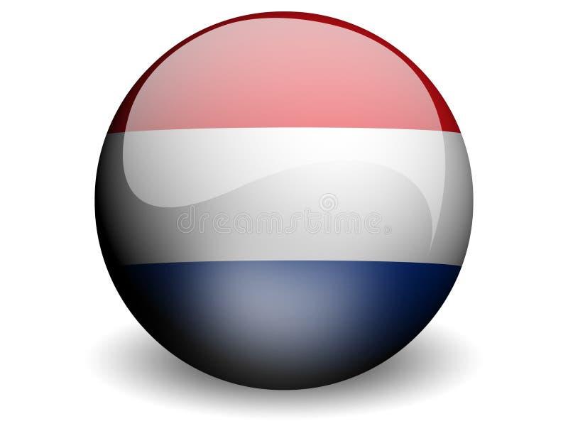 Bandeira redonda dos Países Baixos ilustração royalty free