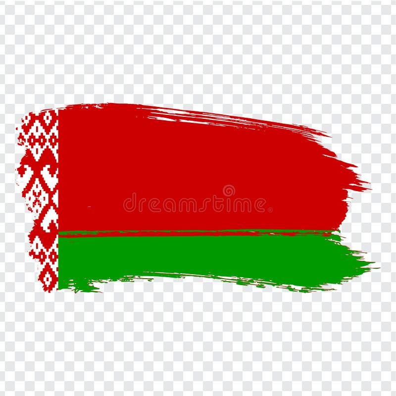 Bandeira Republic of Belarus dos cursos da escova Bandeira de Bielorrússia no fundo transparente para seu projeto do site, logoti ilustração royalty free