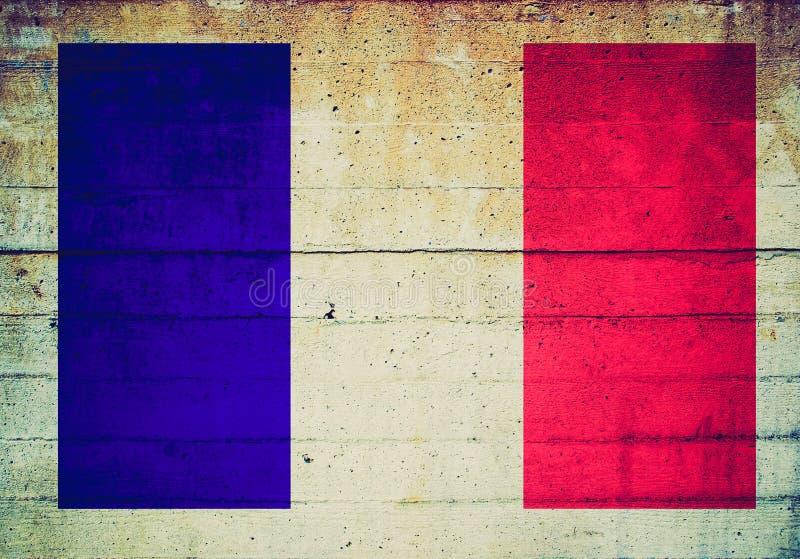 Bandeira retro do francês do olhar fotografia de stock royalty free