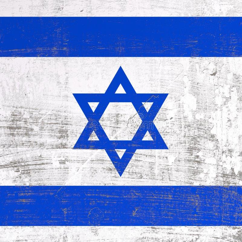 Bandeira riscada de Israel ilustração royalty free