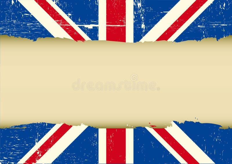Bandeira riscada Reino Unido ilustração royalty free