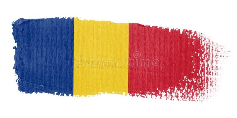 Bandeira Romania do Brushstroke ilustração stock