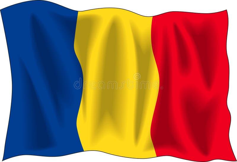 Bandeira romena ilustração royalty free