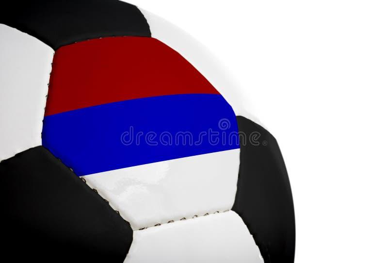 Bandeira sérvio - futebol fotos de stock