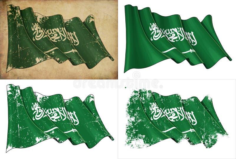 Bandeira saudita ilustração royalty free