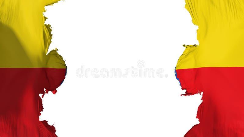 Bandeira soprada de Bogotá ilustração stock