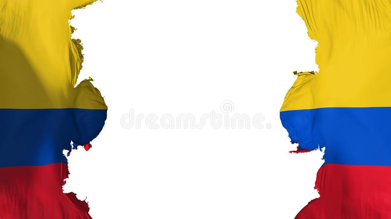 Bandeira soprada de Colômbia ilustração stock