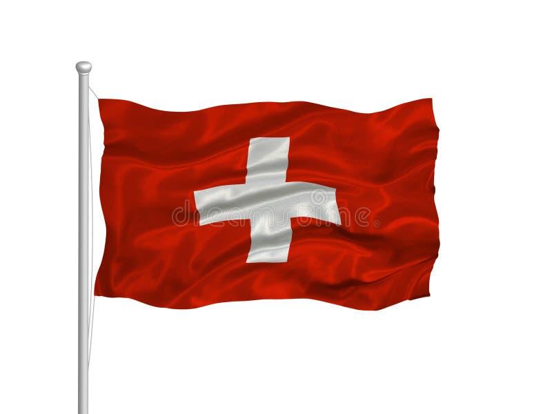 Bandeira suíça 2 ilustração stock