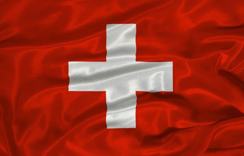 Bandeira suíça 3 ilustração stock