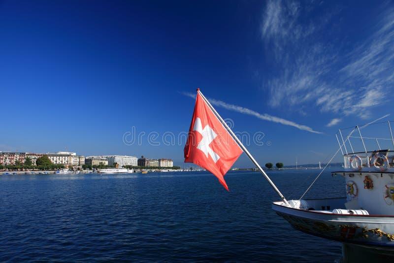 Bandeira suíça imagem de stock