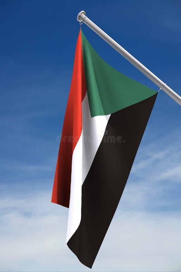 Bandeira sudanesa ilustração stock