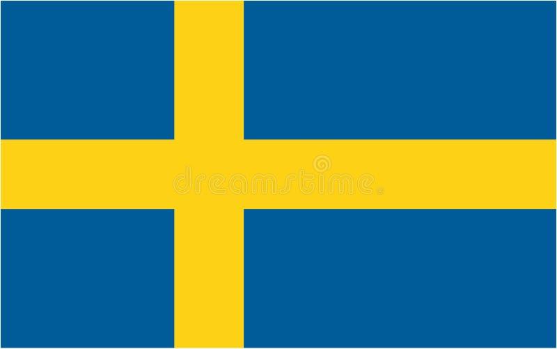 Bandeira sueco ilustração do vetor