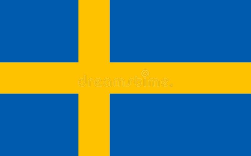 Bandeira sueco exata ilustração royalty free